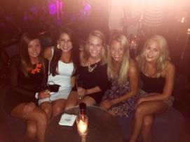 Nebraska gals at Opium Barcelona!